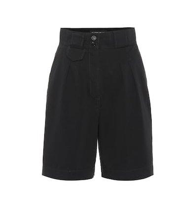 High-rise stretch-cotton shorts