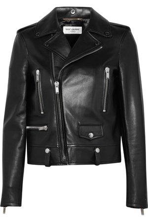 Black Perfecto leather biker jacket | SAINT LAURENT | NET-A-PORTER