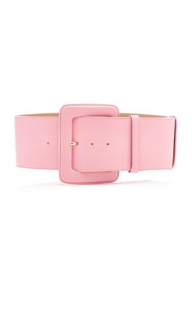 Wide C-Buckle Leather Belt By Carolina Herrera | Moda Operandi