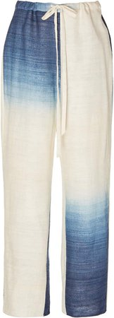 Tie-Dye Silk Wide-Leg Pants
