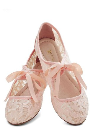Pink Lace Ballet Flats