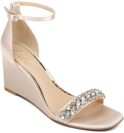 Peggy Ankle Strap Wedge Sandal