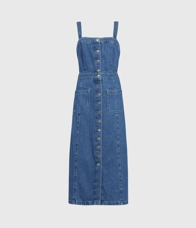 ALLSAINTS US: Womens Elsie Denim Dress (indigo_blue)