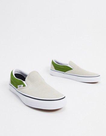 Vans Slip-On suede sneakers in beige | ASOS