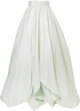 Brandon Maxwell - Knotted Silk-gazar Maxi Skirt - Mint