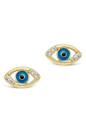 Delicate Evil Eye Stud Earrings | Nordstrom