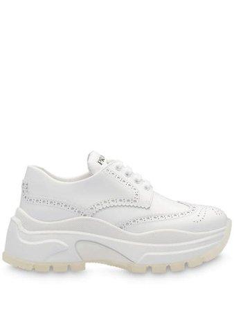 Prada Chunky Perforated Sneakers - Farfetch