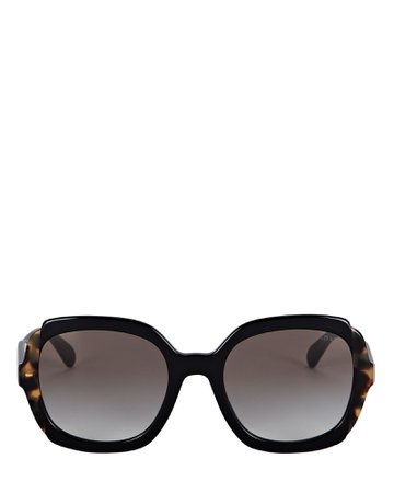 Prada Oversized Round Sunglasses | INTERMIX®