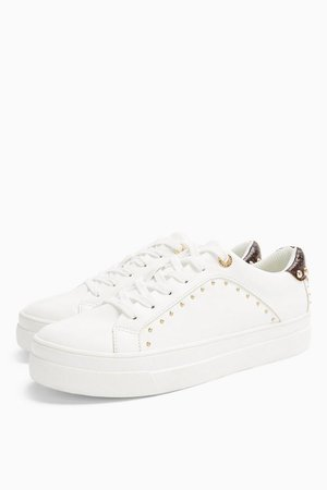 CYRUS White Studded Sneakers | Topshop