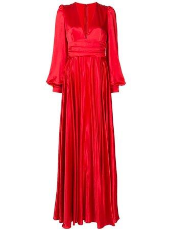 Dolce & Gabbana Draped Silk Evening Gown - Farfetch