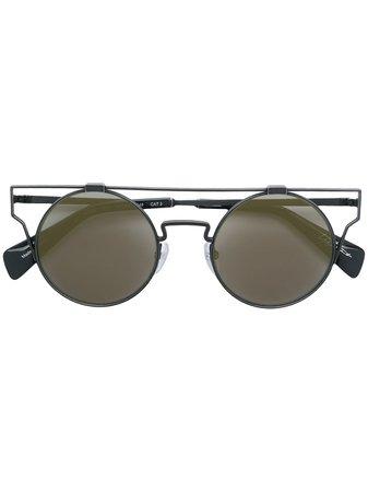 Yohji Yamamoto Round Frame Sunglasses - Farfetch