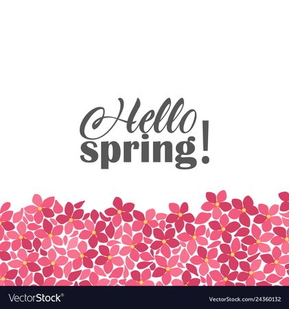 Floral frames hello spring Royalty Free Vector Image