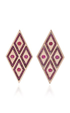 Ralph Masri Heliopolis Rhombus Earrings