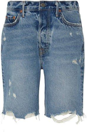 Denim Marjan Distressed Denim Shorts