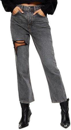 Ohio Ripped Straight Leg Jeans