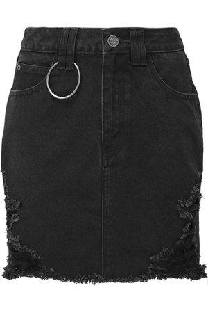 Rawked Out Denim Skirt - Shop Now | KILLSTAR.com | KILLSTAR - US Store