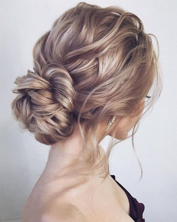 messy updo wedding hairstyle for long hair - Oh Best Day Ever