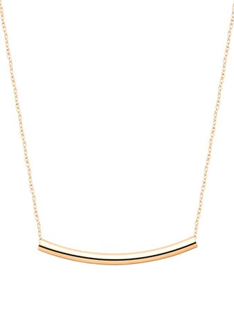Gold Plated Curved Bar Pendant Necklace | SHEIN