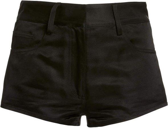 Brandon Maxwell Silk Mini Shorts