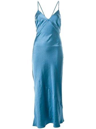 Suboo Slip Dress Jean Com Amarração - Farfetch