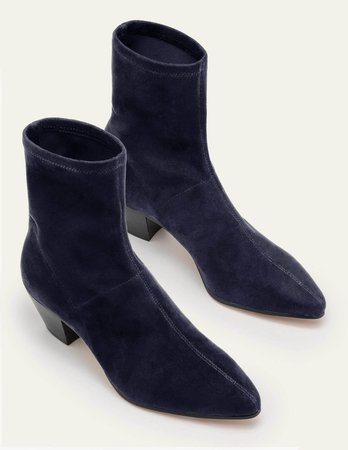 Western Stretch Boots - Navy | Boden US
