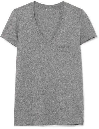 Whisper Slub Cotton-jersey T-shirt - Gray