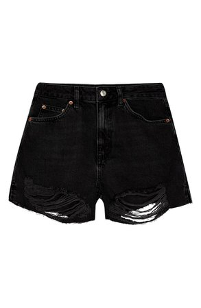 Topshop Split Super Rip Denim Shorts | Nordstrom