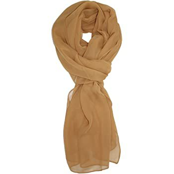 Ted and Jack - Solid Silk Lightweight Accent Scarf (Ivory) at Amazon Women's Clothing store