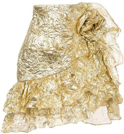 Bambah wrinkle ruffle skirt