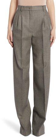 Pixel Pleated Wool Pants