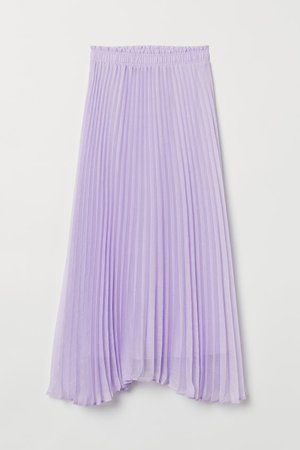 Pleated Skirt - Light purple - Ladies | H&M US