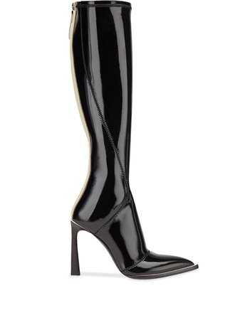 Fendi Patent Leather Pointed Toe Boots - Farfetch
