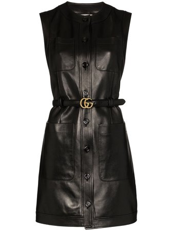 Gucci Double G Belted Mini Dress - Farfetch