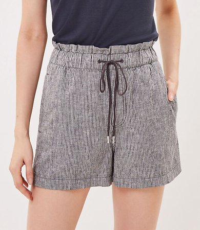 The Petite Pull On Short in Stripe