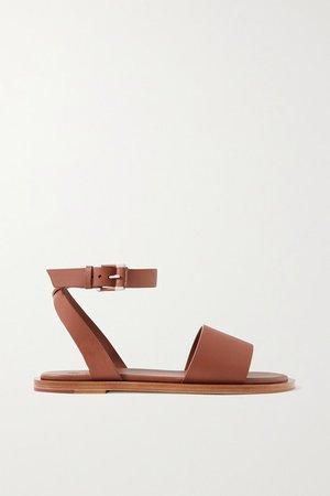 Thirasia Leather Sandals - Tan