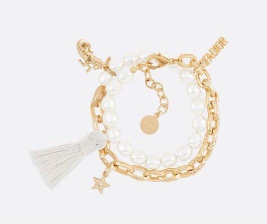 Zodiaddict Capricorn Gold Pleated Bracelet