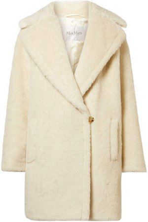 Robinia Alpaca, Wool And Silk-blend Coat - Ivory