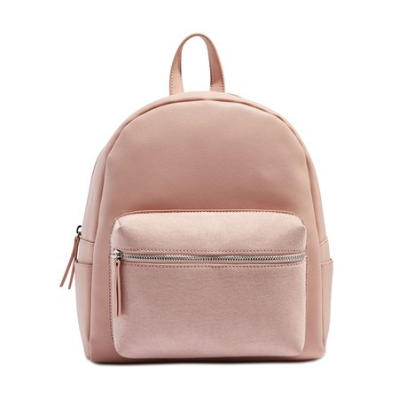 Faux Suede Backpack in Blush from Joe Fresh