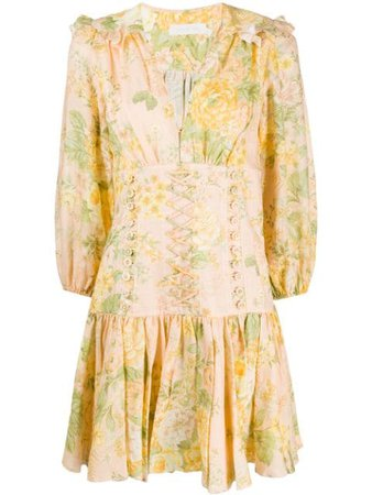 Zimmermann Floral Mini Dress - Farfetch