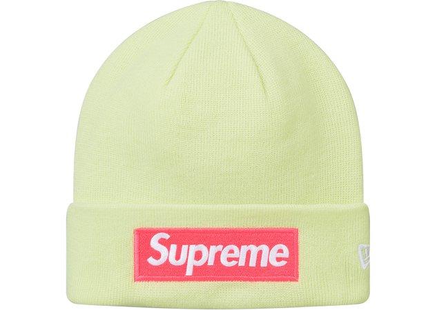 Supreme New Era Box Logo Beanie (FW17) Pale Lime - FW17