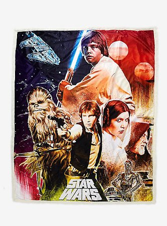 Star Wars: A New Hope Poster Sherpa Throw Blanket