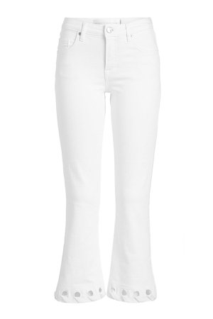 Mini Flare Jeans with Cut-Out Detail Gr. 29
