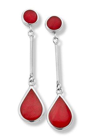 Samuel B Jewelry | Sterling Silver Coral Drop Earrings | Nordstrom Rack