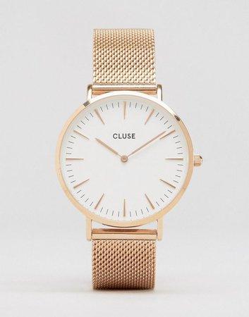 Cluse La Bohème Mesh Rose Gold Watch CL18112