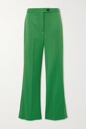 Twill Flared Pants - Green