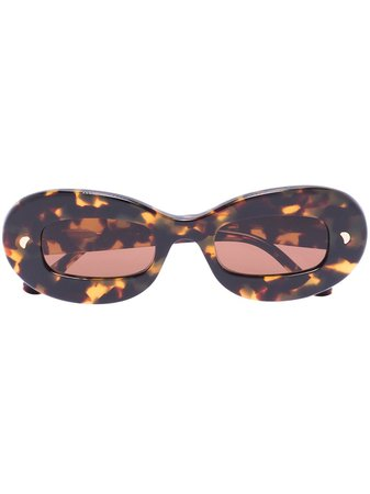 Nanushka tortoiseshell round-frame sunglasses - FARFETCH