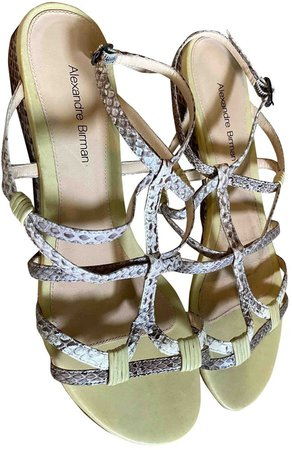 Green Water snake Sandals