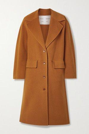 Wool-blend Felt Coat - Orange