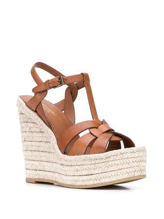 Saint Laurent Tribute 135mm wedge sandals