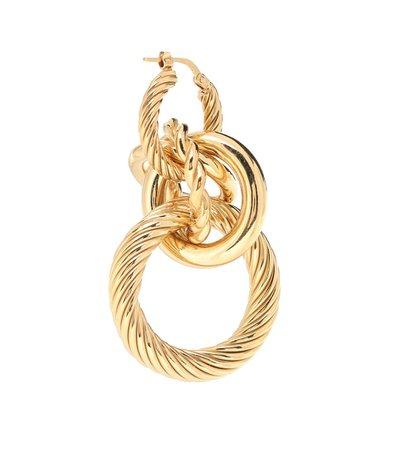 18-Kt Gold-Plated Hoop Earrings   Bottega Veneta - Mytheresa